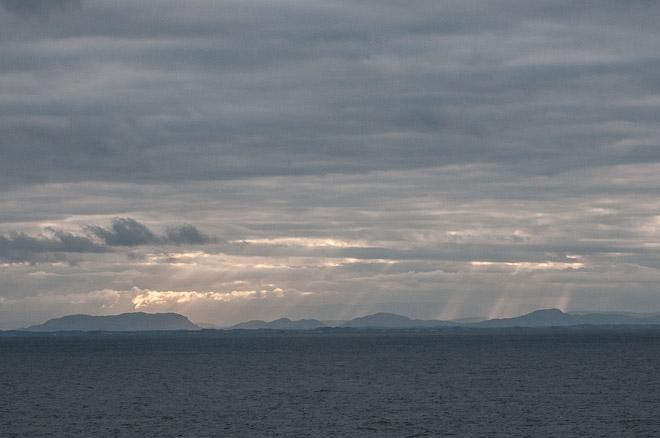 Atardecer en los fiordos noruegos