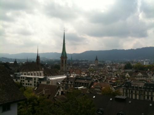 Vistas de Zurich desde la Universidad ETH
