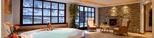 Jacuzzi en el hotel Alpin, Saas-Fee