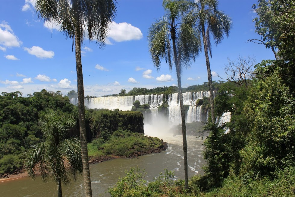 Mirador de las cascadas de San Martin de Iguazú en Argentina