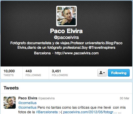 Último tweet de Paco Elvira
