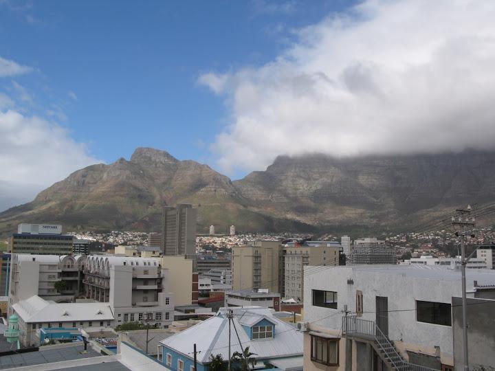 Vistas desde el Bo-Kaap en Ciudad del Cabo