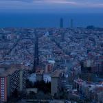 Timelapse para ver cómo oscurece sobre Barcelona