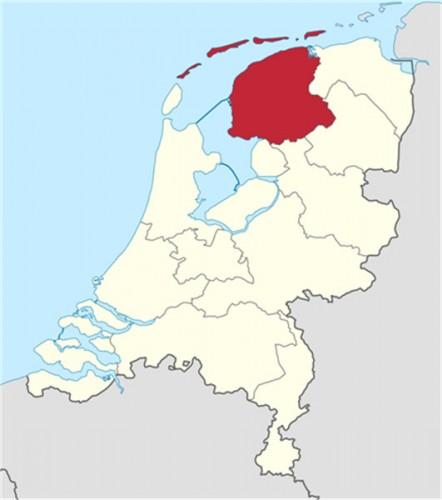 Mapa de Frisia