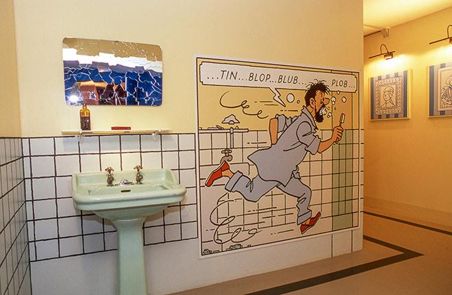 Tintin en el chateau de Cheverny