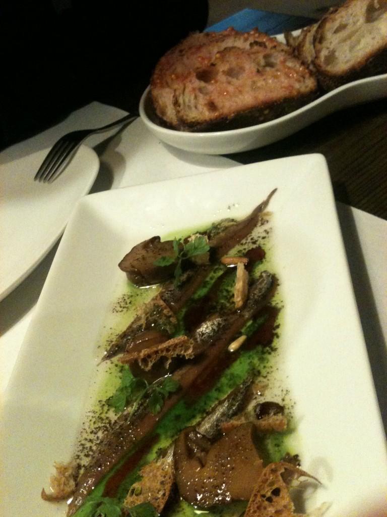 Entrante del restaurante Compartir de Cadaqués