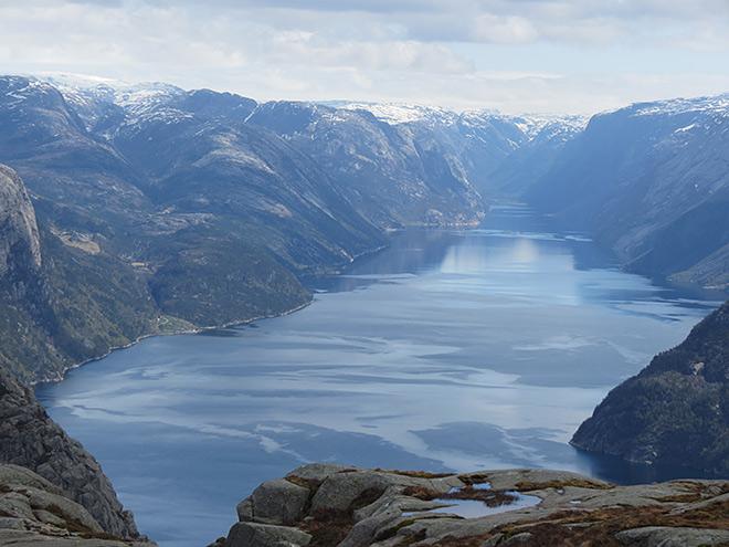 Preikestolen, en los fiordos noruegos