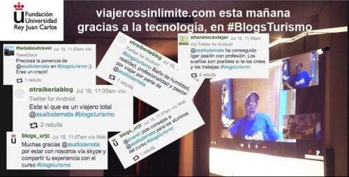 Miguel Nonay de @VSLimite vía Skype en #BlogsTurismo