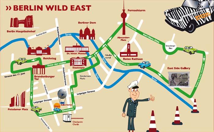 Route Wild East con los Trabant en Berlín