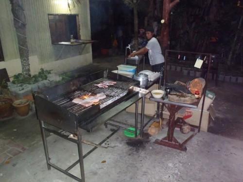 Barbacoa en el hotel de Tioman Island