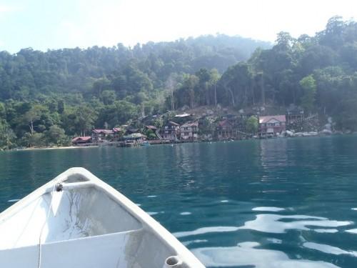 Llegando al hotel de Tioman Island