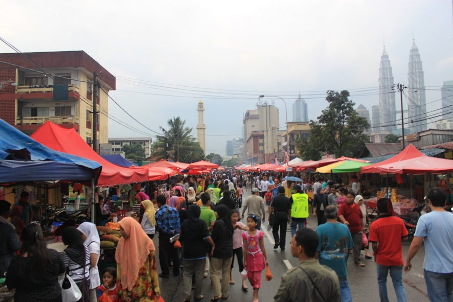 Mercadillo de comida de Kuala Lumpur