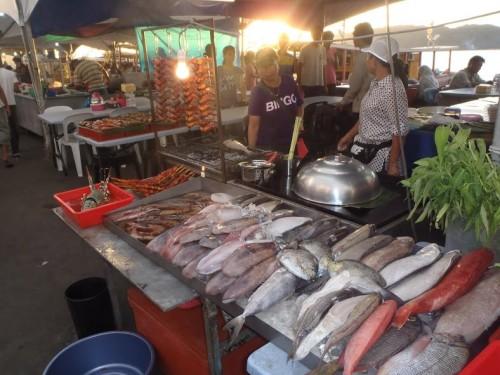 Mercado de pescado en Kota Kinabalu