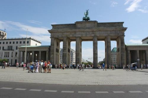 Puerta de Brandemburgo desde nuestro Trabant