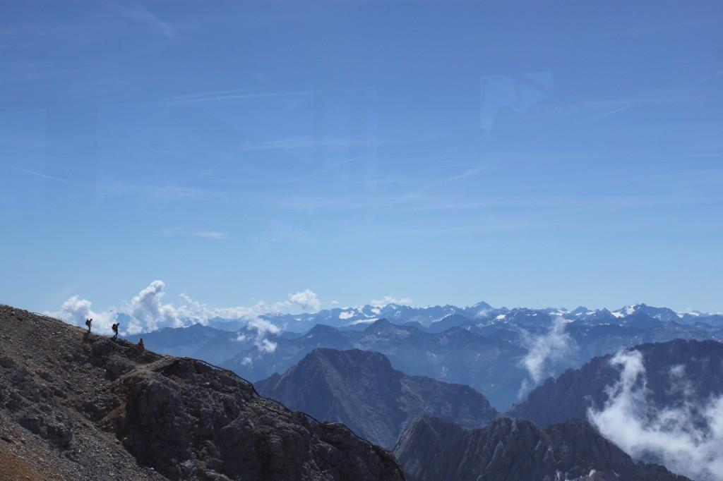 Escaladores en el Zugspitze