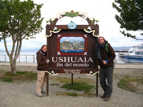Nosotros en Ushuaia, el fin del mundo
