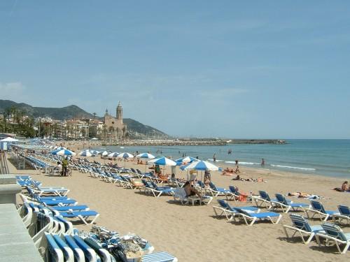 Playa de Sitges (Fuente: Wikipedia)