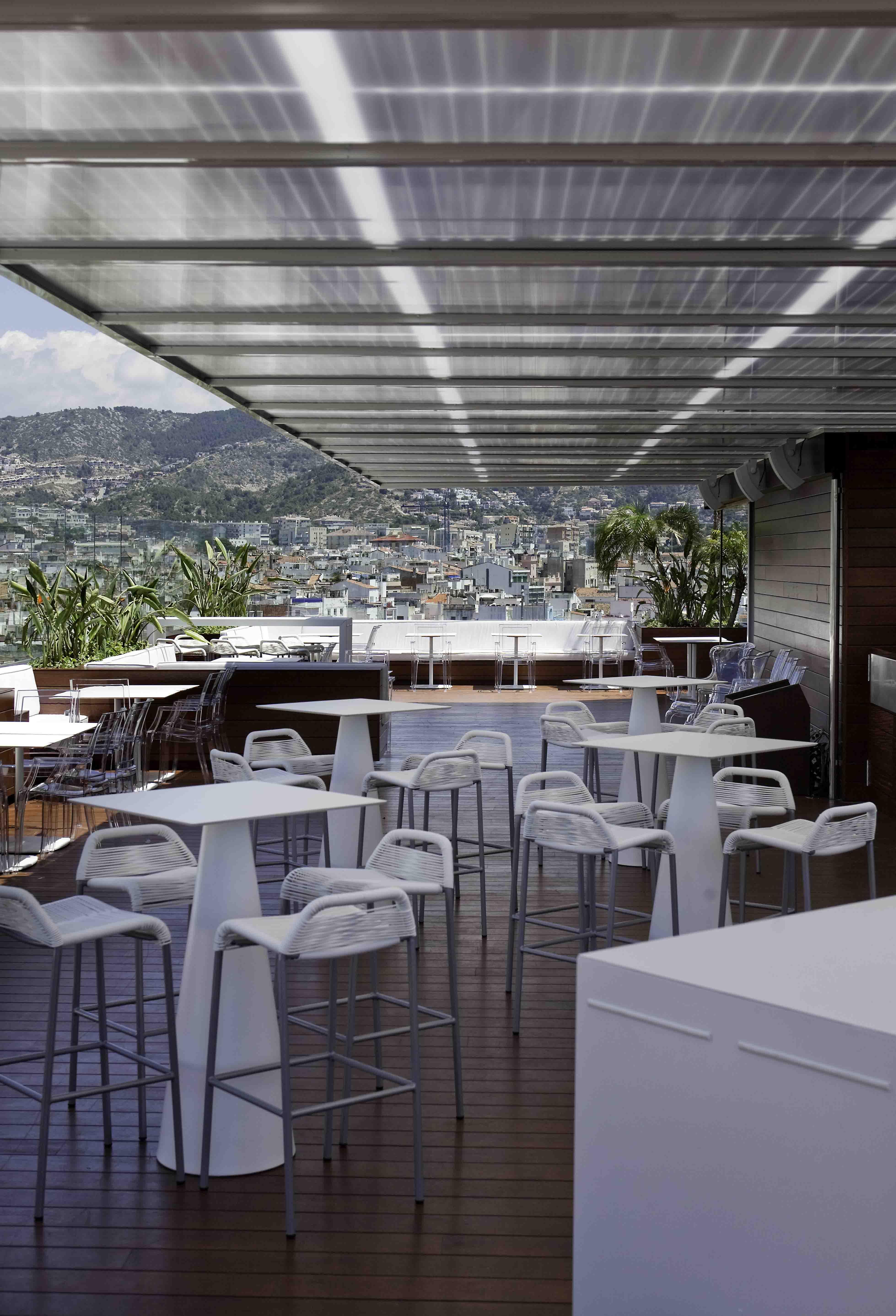 Vistas desde la terraza del Hotel Avenida & Spa de Sitges