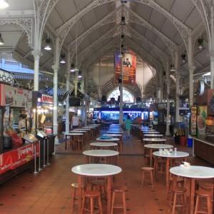 Mercadillo Lau Pa Sat de comida de Singapur