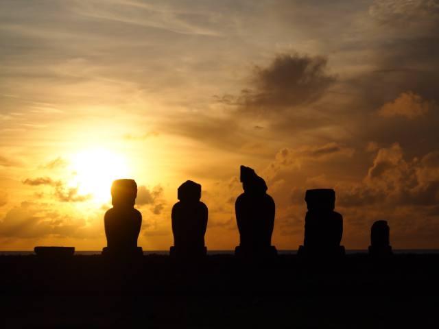 Puesta de sol en Rapa Nui