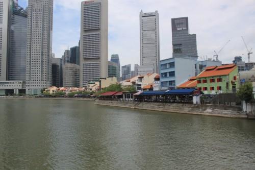 Zona de restaurantes para turistas de Singapur
