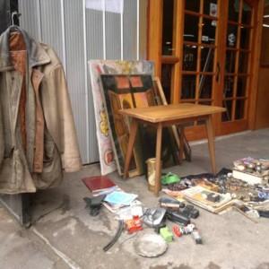 Puestecito del mercado persa Bio Bio de Santiago de Chile