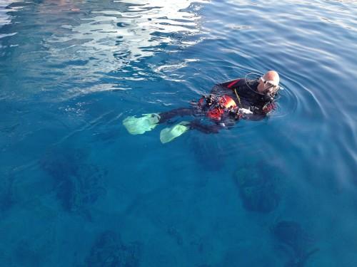 Buceador en el Mar Rojo @3viajes