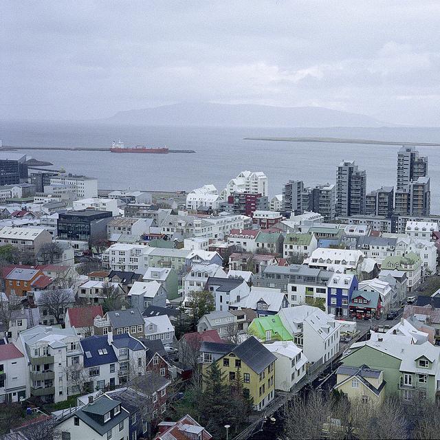 Vistas de Reykjavik desde su catedral