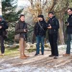 Varios fotógrafos y bloggers de viajes del #olympustrip. De izda. a dcha.: Rafa Pérez, yo, Mauro A. Fuentes, Miguel Páez, Luís Rodríguez