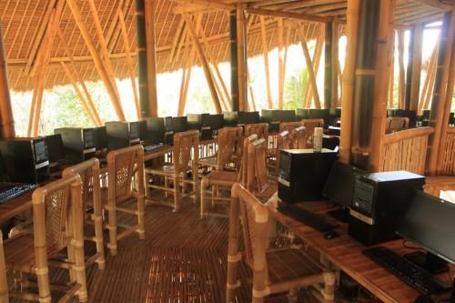 Sala de bambú de informática