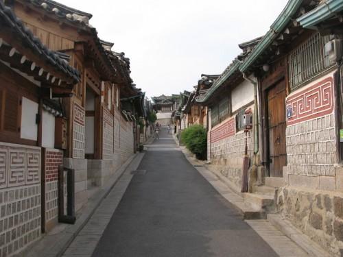 Antiguo barrio Bukchon de Seúl