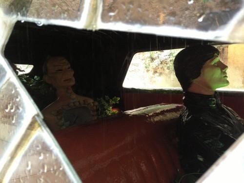 Interior del Cadillac lluvioso en el Teatro Dalí @3viajes