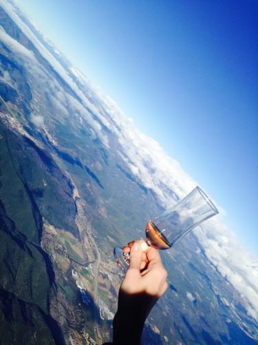 Brindando con cava rosé a 2.500 metros sobre el nivel del mar @3viajes