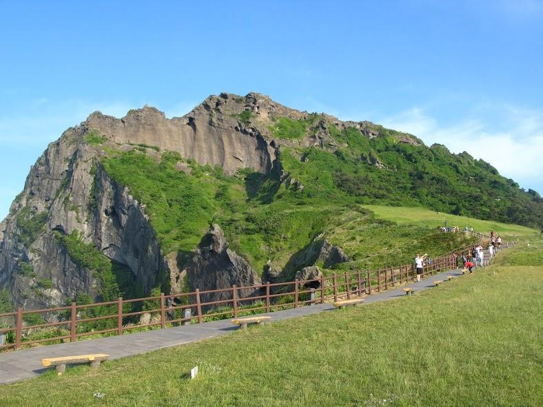 El cráter de Seongsan en Jeju