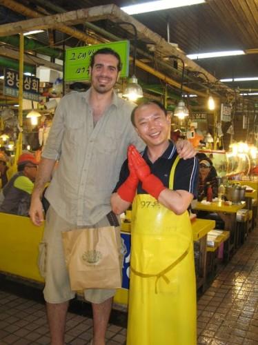 En el mercado de pescado de Busán
