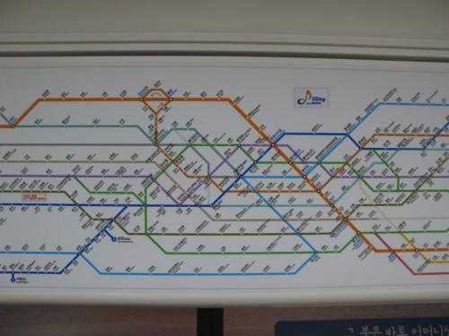 Plano del metro de Seúl