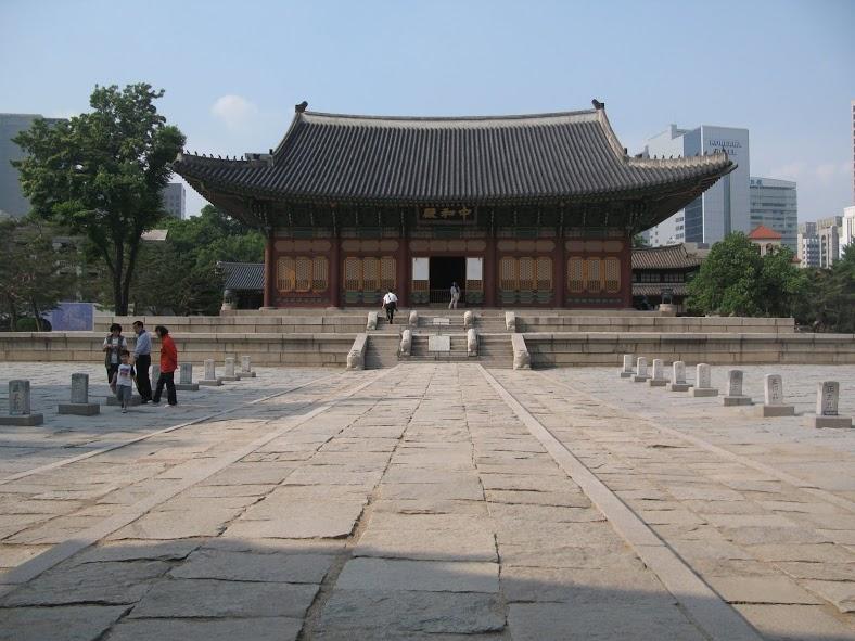 Palacio Gyeongbukgung en el centro de Seúl