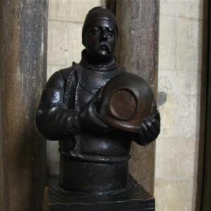 Busto de William Walker en la Catedral de Winchester