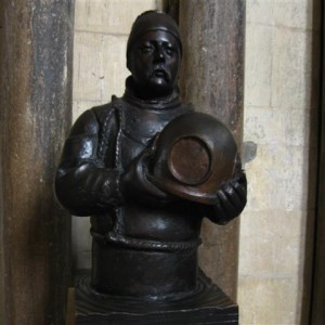 Busto de William Walker en la Catedral de Winchester