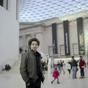 Rubén en su lugar favorito de Londres, el British Museum