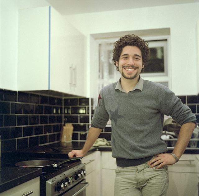 Rubén en su casa de Londres