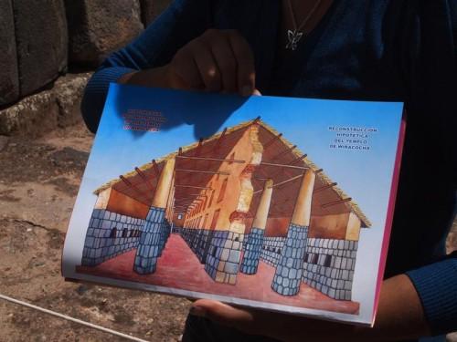 Reconstrucción del Templo de Wiracocha