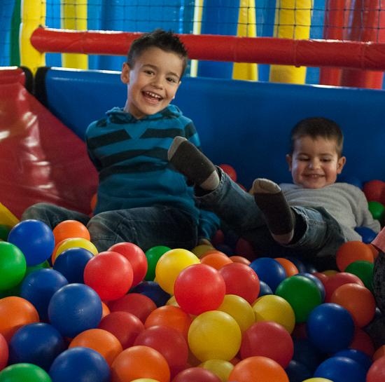 Mis hijos disfrutaron de la zona infantil del Berga Resort