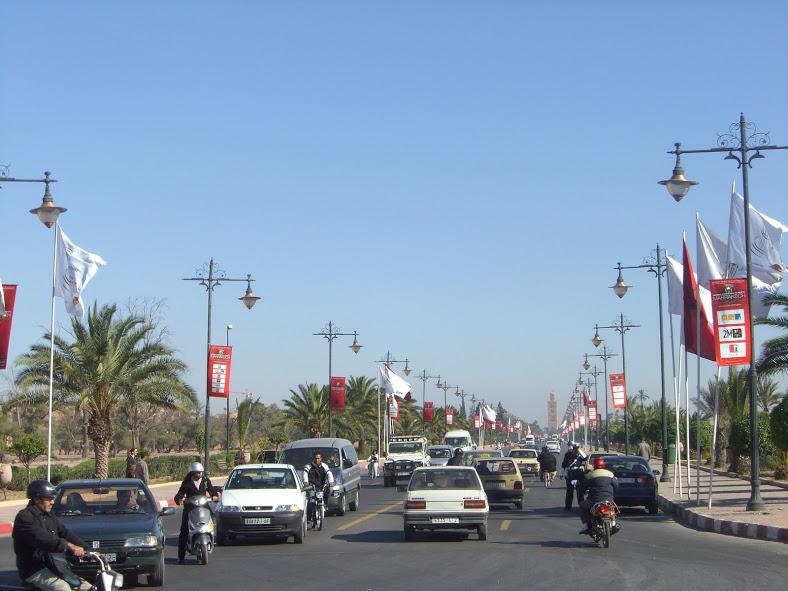 En taxi por Marrakech