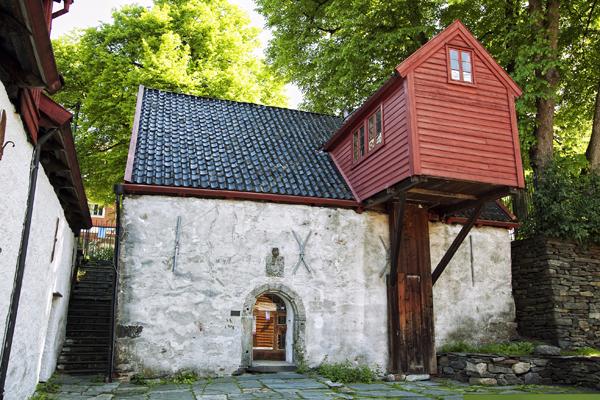 Algunas de las construcciones del interior del Bryggen