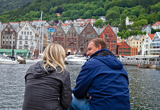 Mirando hacia el Brygge