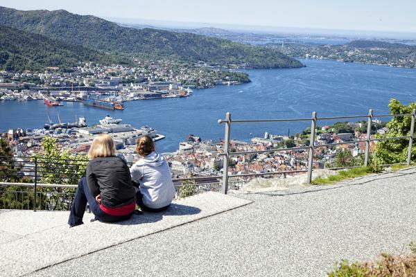 Vistas desde el mirador de Bergen