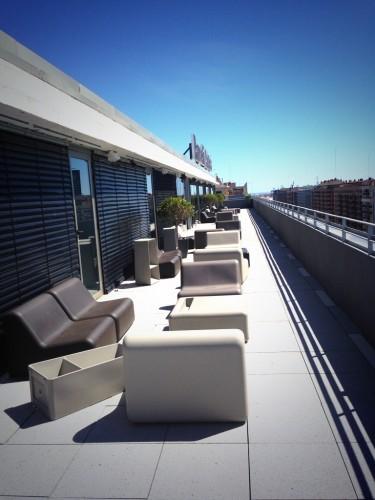 Terraza y spa en la planta 10 del Barceló Valencia @3viajes