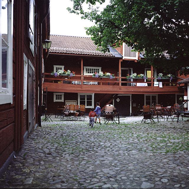 Patio medieval del Krusagården de Eksjö