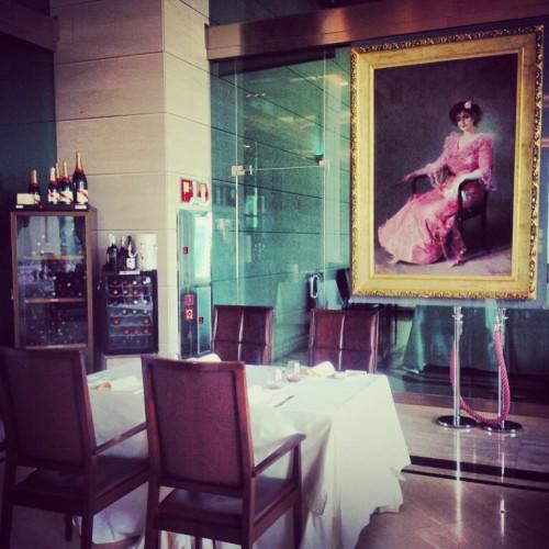 Cuadro de Sorolla en el restaurante de Las Arenas @3viajes